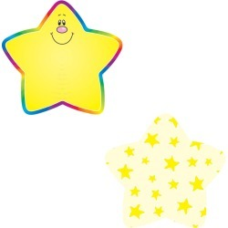 Stars Mini Cutouts 36 pk, Set Of 6 Packs