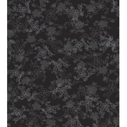 Keepsake Calico Cotton Fabric Floral On Black