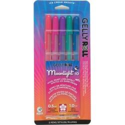 Sakura Gelly Roll Moonlight Pen Set 5 Colors Dusk
