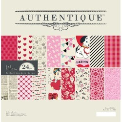 "Authentique Cardstock Pad 8""x8"" Love Notes"