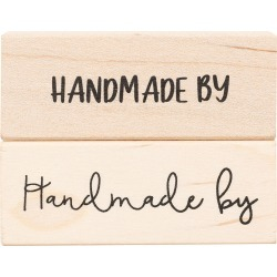 American Crafts Wooden Stamp Handmade By