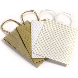 Core'dinations Glittery Polka Dot Gift Bags 4 Pack