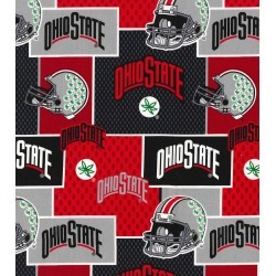 Ohio State University Buckeyes Cotton Fabric Helmets on Block found on Bargain Bro Philippines from JOANN Stores for $17.98