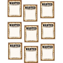 Western Wanted Posters Accents 30 pk, Set Of 6 Packs