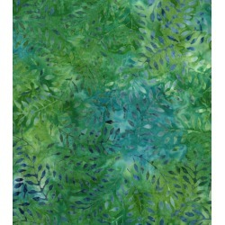 Legacy Studio Batik Cotton Fabric Green Leaves - 2 Yrds Min found on Bargain Bro Philippines from JOANN Stores for $12.99