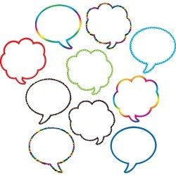 Speech Thought Bubbles Accents 30 pk, Set Of 6 Packs