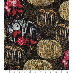 Pattern Trap Metallic Pumpkins Halloween Cotton Fabric found on Bargain Bro Philippines from JOANN Stores for $22.48