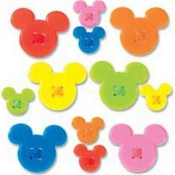 Disney Mickey Icon Adhesive Buttons - Paper Crafting - Scrapbook Supplies - Embellishments