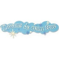 Disney Title Stickers - Dreams Do Come True - Paper Crafting - Scrapbook Supplies - Embellishments