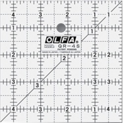 "Olfa Frosted Ruler The Charm 4 - 1/2""x4 - 1/2"""