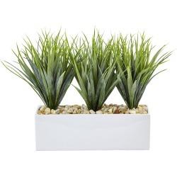 Nearly Natural Vanilla Grass in Rectangular Planter
