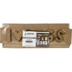 Foundations Decor Shadow Box Kit I Love Dogs found on Bargain Bro India from JOANN Stores for $7.49