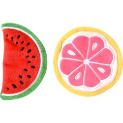 Place & Time Spring Crinkle Watermelon & Grapefruit Cat Toys