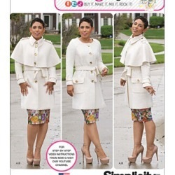 Simplicity Patterns Us1016Aa - Simplicity Misses'& Plus Size Coat By Mimi G Style - 10 - 12 - 14 - 16 - 18