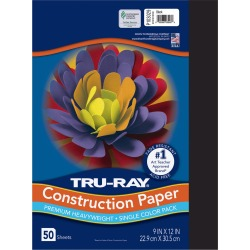 Tru - Ray 50 Sheets 9in x 12in Construction Paper - Black found on Bargain Bro India from JOANN Stores for $2.99