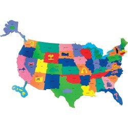 WonderFoam Giant USA Puzzle Map