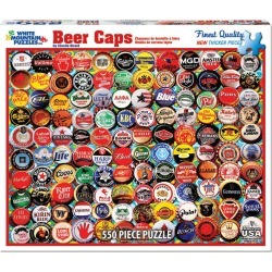 White Mountain Puzzles 550 Pieces Jigsaw Puzzle - Beer Bottle Caps found on Bargain Bro India from JOANN Stores for $17.99