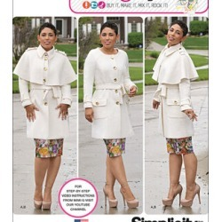 Simplicity Patterns Us1016Bb - Simplicity Misses'& Plus Size Coat By Mimi G Style - 20W - 28W