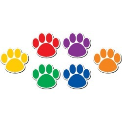 Colorful Paw Prints Magnetic Accents 18 pk, Set Of 3 Packs