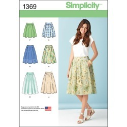 Simplicity Pattern 1369H5 6 - 8 - 10 - 12 - - Misses Skirts Pants