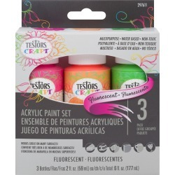 Testors 3ct Acrylic Paint Set Fluorescent found on Bargain Bro from JOANN Stores for USD $6.45