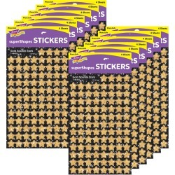 Gold Stars superShapes Stickers Sparkle 12 Packs