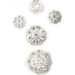 Blue Moon Findings Bead Cap Metal Multi Pack Filigree Matte Silver