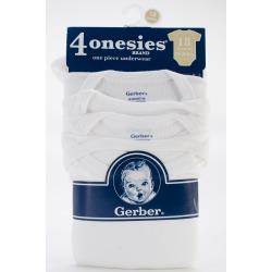 Gerber White Onesies - 4PK/18 months