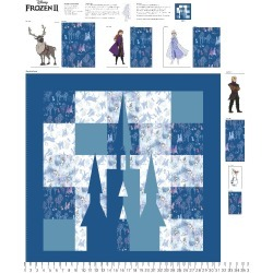 Disney Frozen 2 Learn To Sew Play Mat Fabric Panel