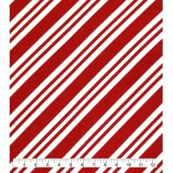 Candy Cane Stripe Super Snuggle Flannel Fabric found on Bargain Bro India from JOANN Stores for $5.98