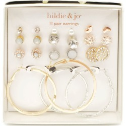 hildie & jo 11 - pair Silver, Gold & Rose Gold Earrings