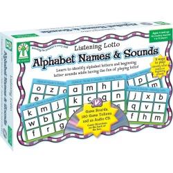 Listening Lotto: Alphabet Names & Sounds Board Game, Grade PK 1