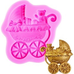 NY Cake Silicone Mold - Pink Baby Carriage
