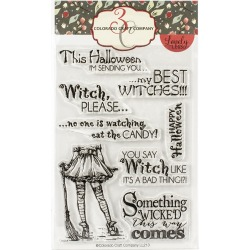 "Colorado Craft Company Clear Stamps 4""X6"" Best Witches"