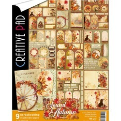 Ciao Bella Double Sided Creative Pack 90lb A4 9 Pkg Sound Of Autumn