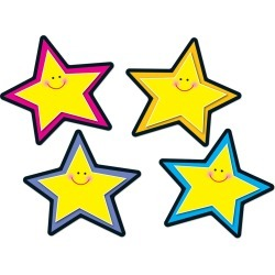 Stars Accents 36 pk, Set Of 6 Packs