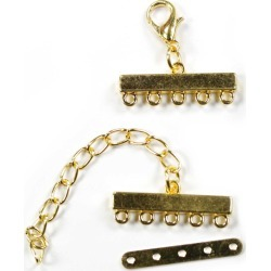 Blue Moon Beads - Findings Clasp End Bar Metal 5 Loop Gold - Jewelry Findings - At JOANN Fabrics & Crafts