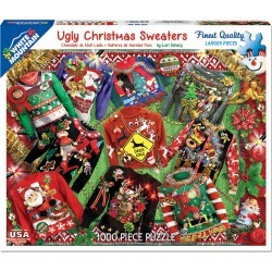 White Mountain Puzzles 1000 Pieces Jigsaw Puzzle - Ugly Christmas Sweater found on Bargain Bro India from JOANN Stores for $20.99