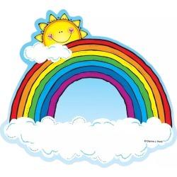 Cut Outs Rainbows 36 pk, Set of 6 Packs