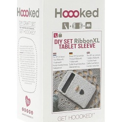 Hoooked Tablet Cover Yarn Kit with RibbonXL - Sandy Ecru