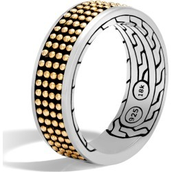 John Hardy Men's Chain Jawan 7.5MM Band Ring, Sterling Silver and 18K Gold found on MODAPINS from John Hardy Jewelry for USD $695.00