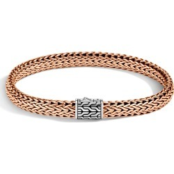 John Hardy Men's Classic Chain 7.5MM Bracelet in Sterling Silver and Bronze