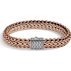 John Hardy Men's Classic Chain 11MM Bracelet in Sterling Silver and Bronze