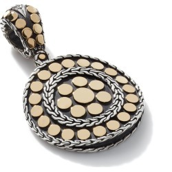 John Hardy Women's Dot Enhancer in Sterling Silver and 18K Gold