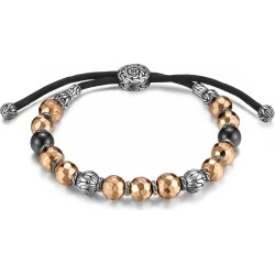 John Hardy Men's Classic Chain Pull Through Bracelet in Sterling Silver and Bronze