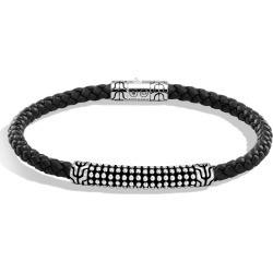 John Hardy Men's Chain Jawan 4MM Station Bracelet in Sterling Silver, Leather found on MODAPINS from John Hardy Jewelry for USD $395.00