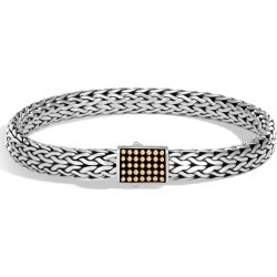 John Hardy Men's Chain Jawan 7.5MM Bracelet in Sterling Silver and 18K Gold found on MODAPINS from John Hardy Jewelry for USD $1045.00