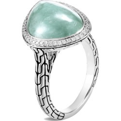 John Hardy Women's Chain Power Rock Ring, Sterling Silver, 18x12.5MM Gem and Dia found on MODAPINS from John Hardy Jewelry for USD $1495.00