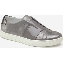 Johnston & Murphy Women's Eden - Gray Italian Metallic Suede/Patent - Size 6 - M