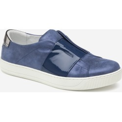 Johnston & Murphy Women's Eden - Blue Italian Metallic Suede/Patent - Size 9 - M